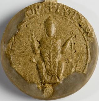 Sceau de  l'évêque Louis de Frobourg (1169)