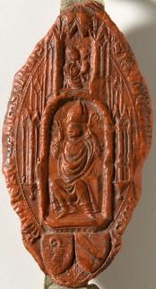 Sceau de l'évêque Humbert de Neufchâtel (1403, 9 février)